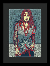 Rubino Red Lady - Framed Print
