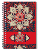 Rubino Red Zen Namaste - Spiral Notebook