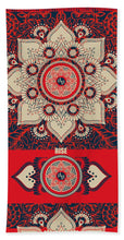 Rubino Red Zen Namaste - Beach Towel