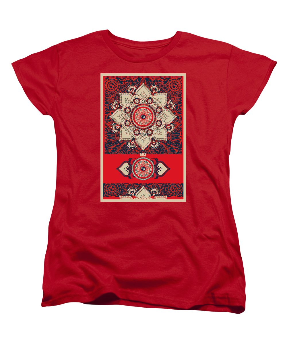Rubino Red Zen Namaste - Women's T-Shirt (Standard Fit)