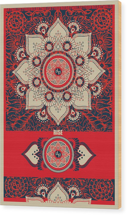 Rubino Red Zen Namaste - Wood Print