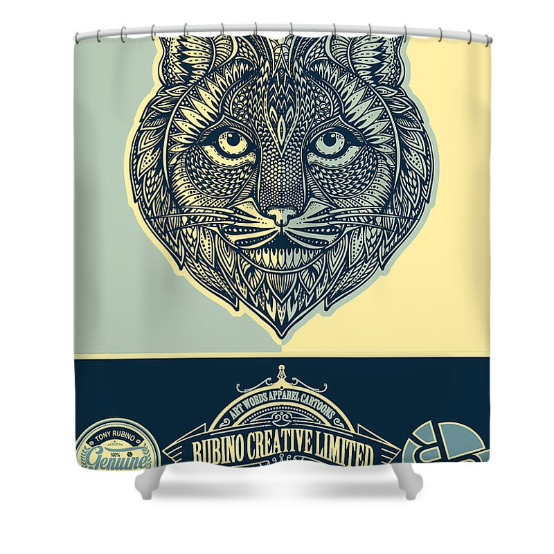 Rubino Spirit Cat - Shower Curtain