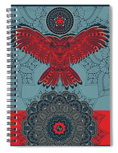 Rubino Spirit Owl - Spiral Notebook