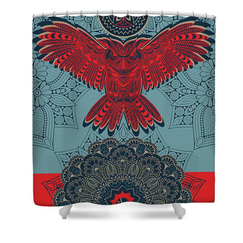 Rubino Spirit Owl - Shower Curtain