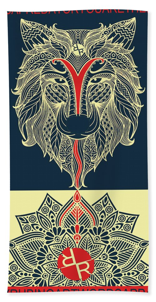 Rubino Spirit Wolf - Beach Towel