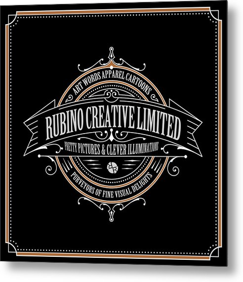 Rubino Vintage Sign - Metal Print