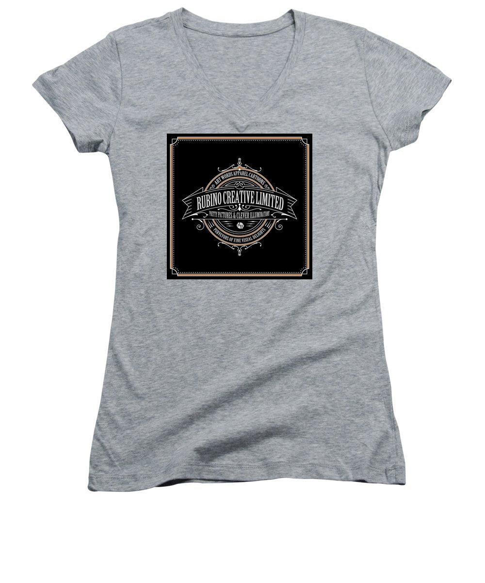 Rubino Vintage Sign - Women's V-Neck (Athletic Fit)