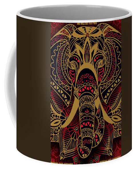 Rubino Zen Elephant Red - Mug