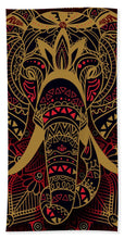 Rubino Zen Elephant Red - Beach Towel