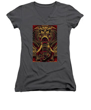 Rubino Zen Elephant Red - Women's V-Neck (Athletic Fit)