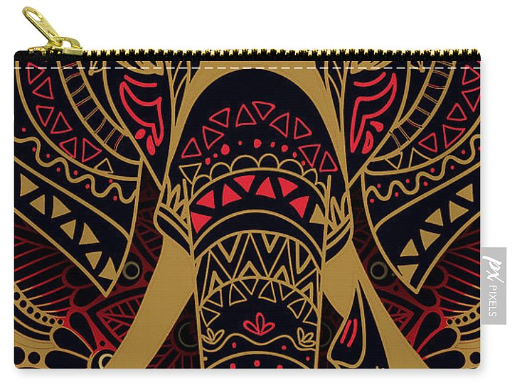 Rubino Zen Elephant Red - Carry-All Pouch