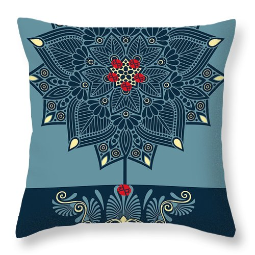 Rubino Zen Flower - Throw Pillow