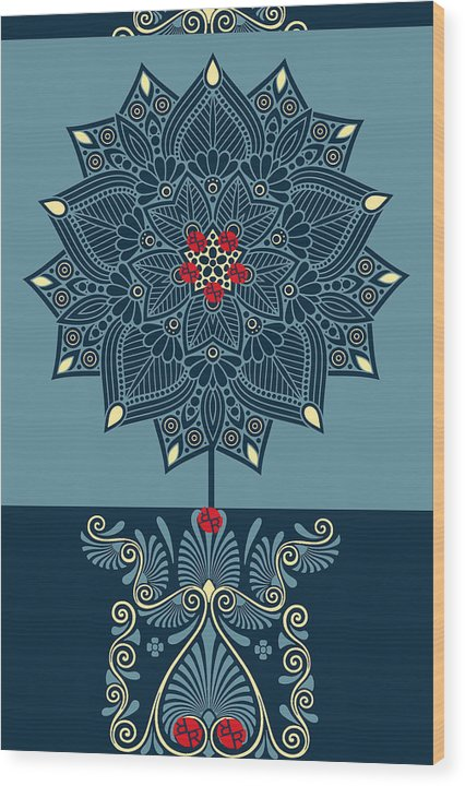 Rubino Zen Flower - Wood Print