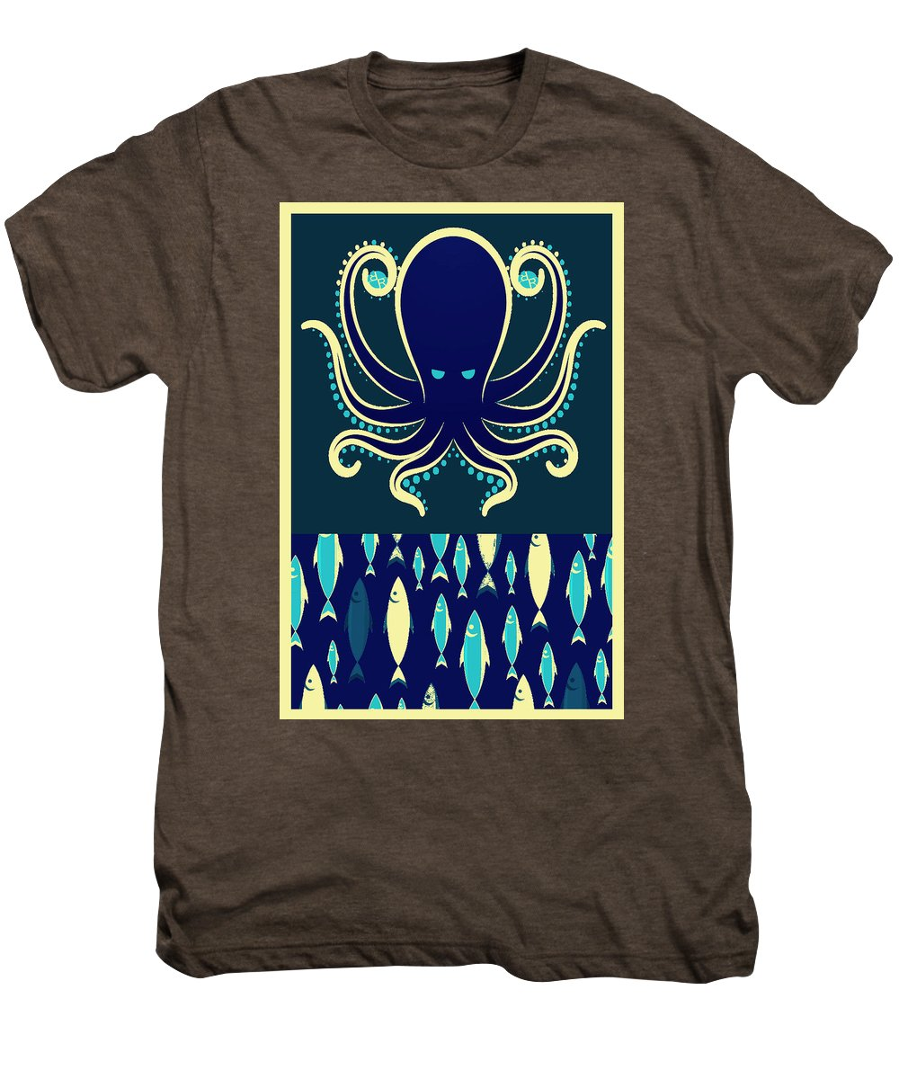 Rubino Zen Octopus Blue - Men's Premium T-Shirt