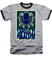 Rubino Zen Octopus Blue - Baseball T-Shirt