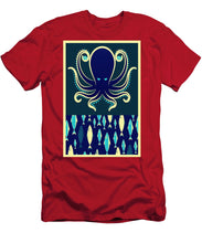 Rubino Zen Octopus Blue - Men's T-Shirt (Athletic Fit)