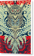 Rubino Zen Owl Blue - Canvas Print
