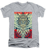 Rubino Zen Owl Blue - Men's V-Neck T-Shirt