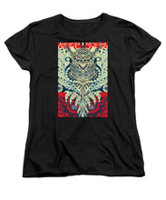 Rubino Zen Owl Blue - Women's T-Shirt (Standard Fit)
