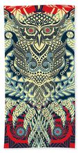 Rubino Zen Owl Blue - Bath Towel