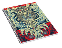 Rubino Zen Owl Blue - Spiral Notebook
