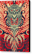 Rubino Zen Owl Red - Canvas Print