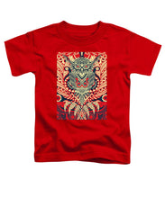 Rubino Zen Owl Red - Toddler T-Shirt