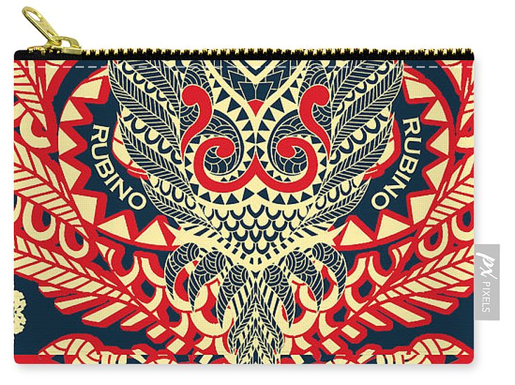 Rubino Zen Owl Red - Carry-All Pouch