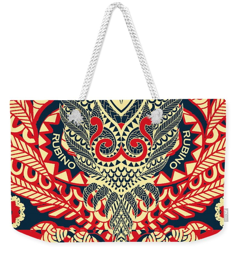 Rubino Zen Owl Red - Weekender Tote Bag
