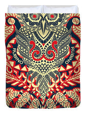 Rubino Zen Owl Red - Duvet Cover