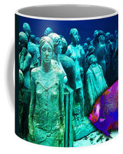 Sculpture Underwater With Bright Fish Painting Musa - Mug