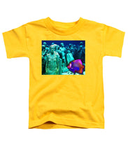 Sculpture Underwater With Bright Fish Painting Musa - Toddler T-Shirt