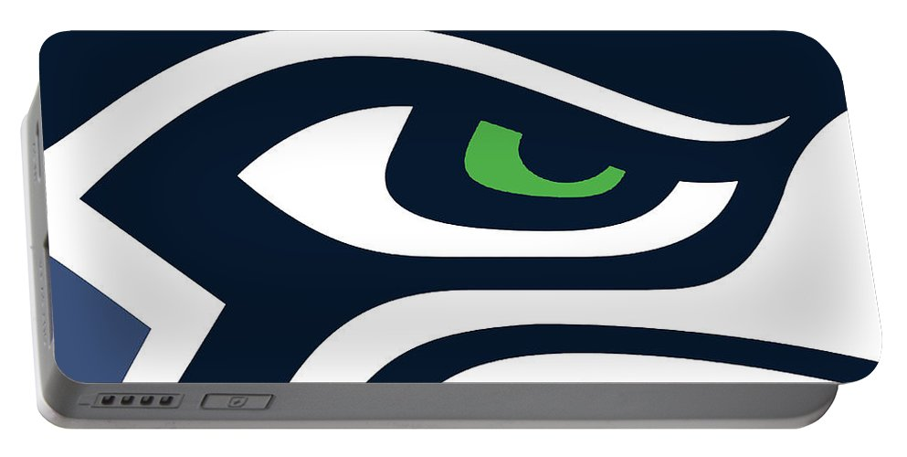Seattle Seahawks Portable Battery Charger Rubino Creative Fine Art