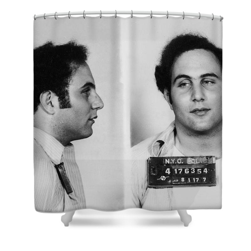Son Of Sam David Berkowitz Mug Shot 1977 Horizontal  - Shower Curtain