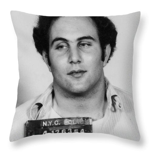 Son Of Sam David Berkowitz Mug Shot 1977 Vertical - Throw Pillow
