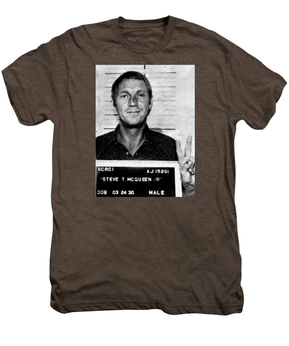 Steve Mcqueen Mug Shot Vertical - Men's Premium T-Shirt