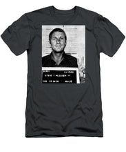 Steve Mcqueen Mug Shot Vertical - Men's T-Shirt (Athletic Fit)