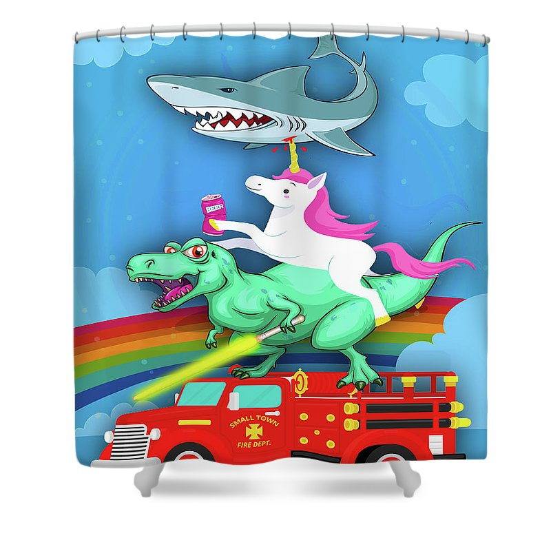 Super Terrific Freakin Awesome - Shower Curtain