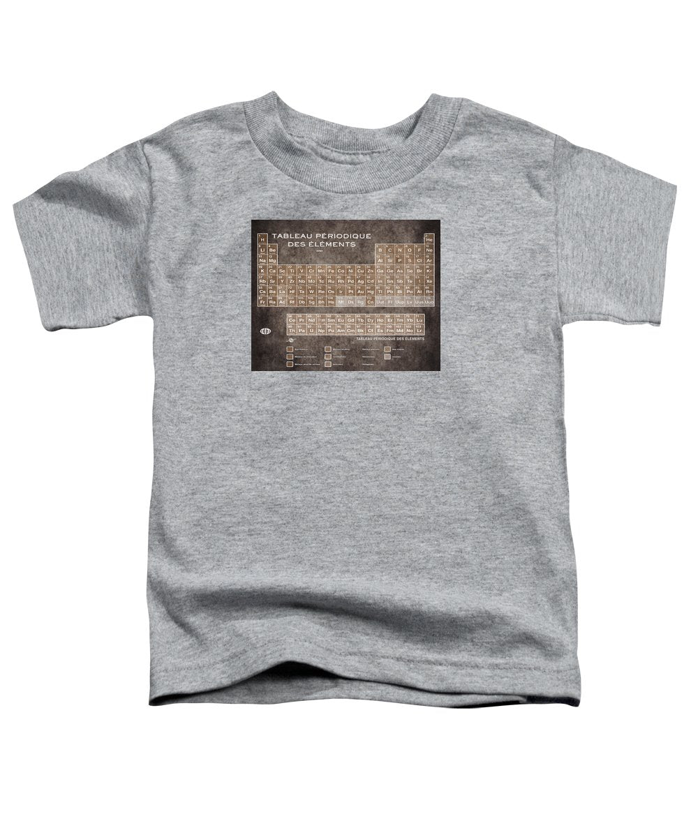 Tableau Periodiques Periodic Table Of The Elements Vintage Chart Sepia - Toddler T-Shirt