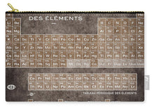 Tableau Periodiques Periodic Table Of The Elements Vintage Chart Sepia - Carry-All Pouch