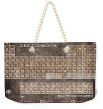 Tableau Periodiques Periodic Table Of The Elements Vintage Chart Sepia - Weekender Tote Bag