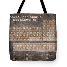 Tableau Periodiques Periodic Table Of The Elements Vintage Chart Sepia - Tote Bag