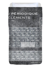 Tableau Periodiques Periodic Table Of The Elements Vintage Chart Silver - Duvet Cover