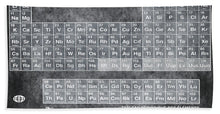Tableau Periodiques Periodic Table Of The Elements Vintage Chart Silver - Beach Towel