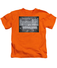 Tableau Periodiques Periodic Table Of The Elements Vintage Chart Silver - Kids T-Shirt