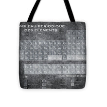 Tableau Periodiques Periodic Table Of The Elements Vintage Chart Silver - Tote Bag