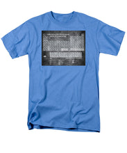 Tableau Periodiques Periodic Table Of The Elements Vintage Chart Silver - Men's T-Shirt  (Regular Fit)