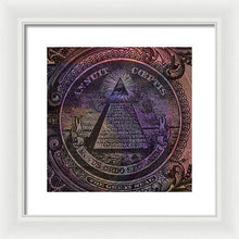 The Color Of Mason Money Close Up 1 Dollar Us 1 - Framed Print