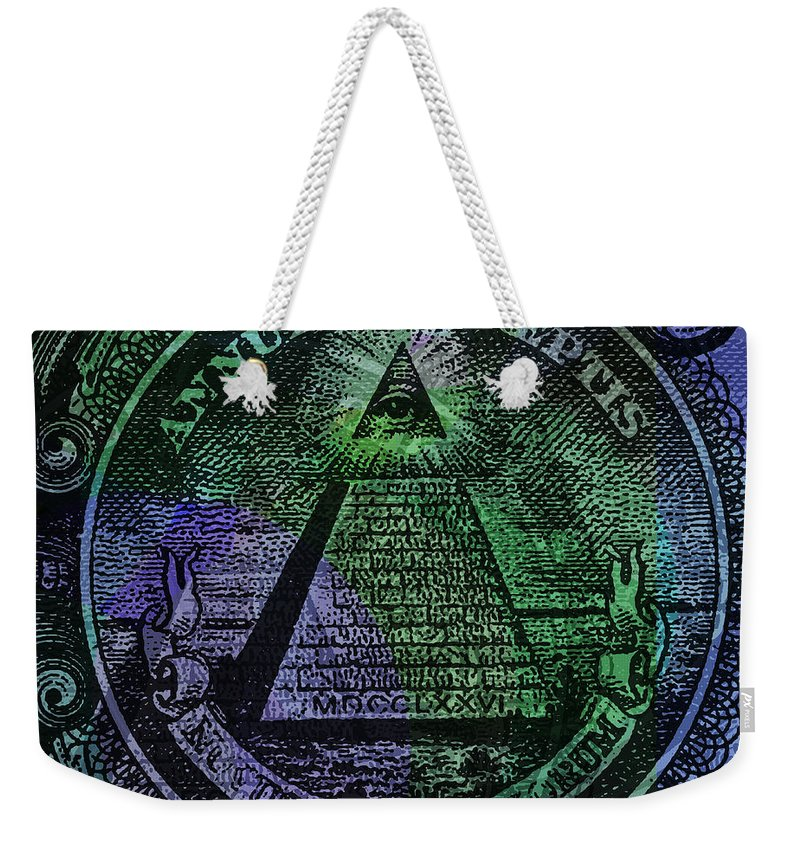 The Color Of Mason Money Close Up 1 Dollar Us 2 - Weekender Tote Bag