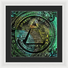The Color Of Mason Money Close Up 1 Dollar Us 4 - Framed Print
